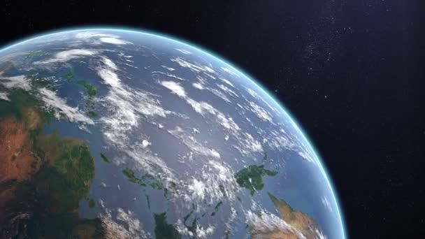 Spining země a přiblížit