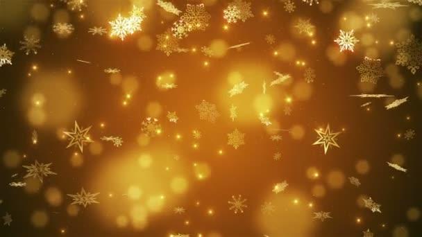Zlata krásný padající sněhové vločky