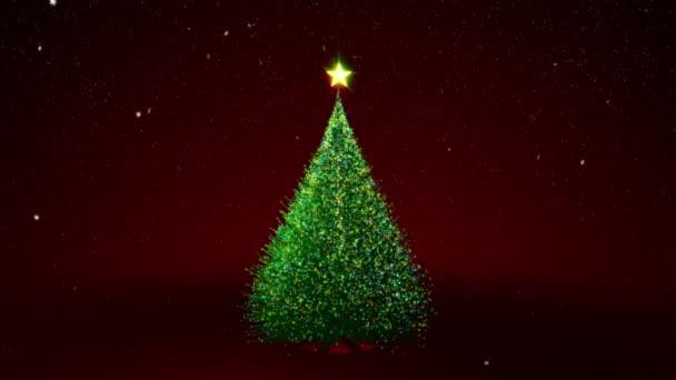 Christmas tree with color lights
