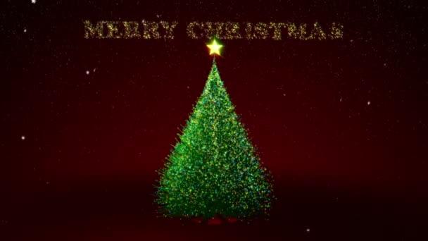 Vánoční strom s barvou světla