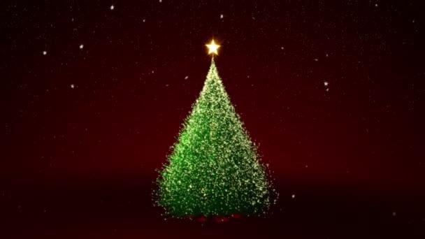 Vánoční strom se žlutými světly