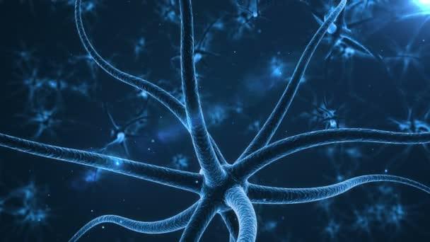 Bleu neuronů s elektrické impulsy