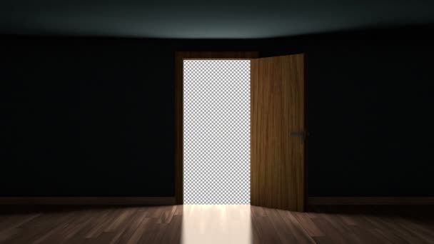 4K Door Opening with transparency Alpha Channel