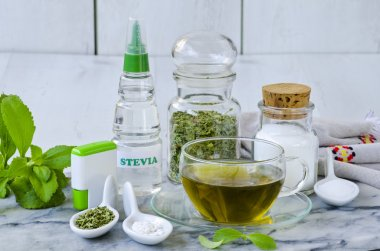 Stevia Products. Natural Sweetener.