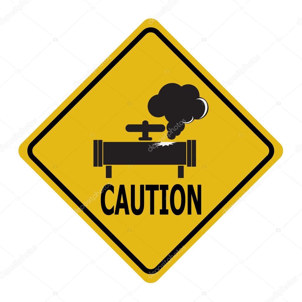 Se Al De Advertencia De La Fuga De Gas Signo De Icono De