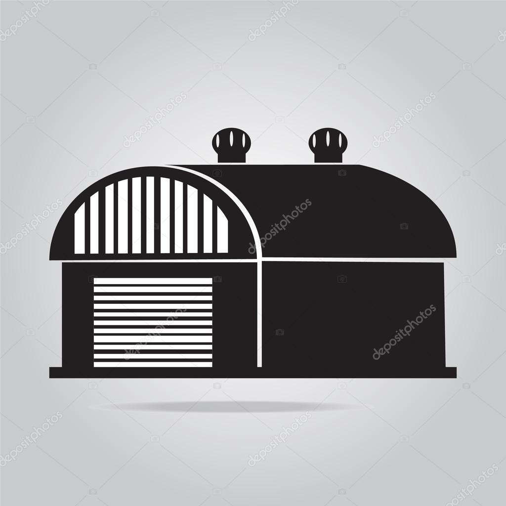 Edifício ícone, Celeiro, Armazém Ilustração