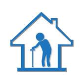 Nursing home symbol, illustration