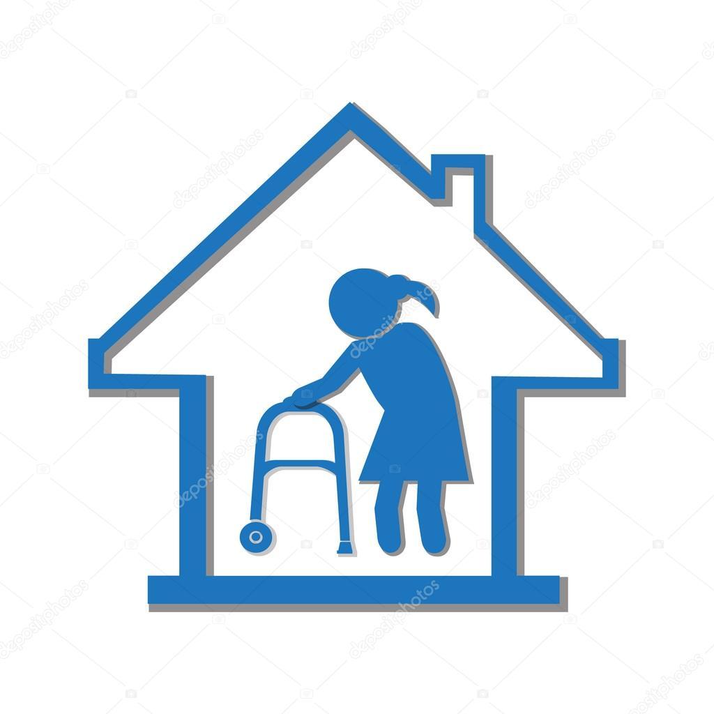 Nursing Home Symbol Icon Illustration Stock Vector Keath369