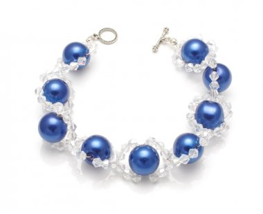 Expensive bracelet with swarovski crystals isolated on the white