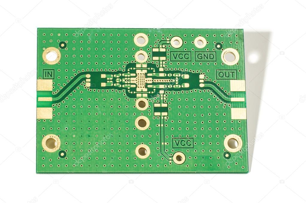 Prototype printed circuit design isolated — Stock Photo
