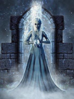 Dark elven sorceress