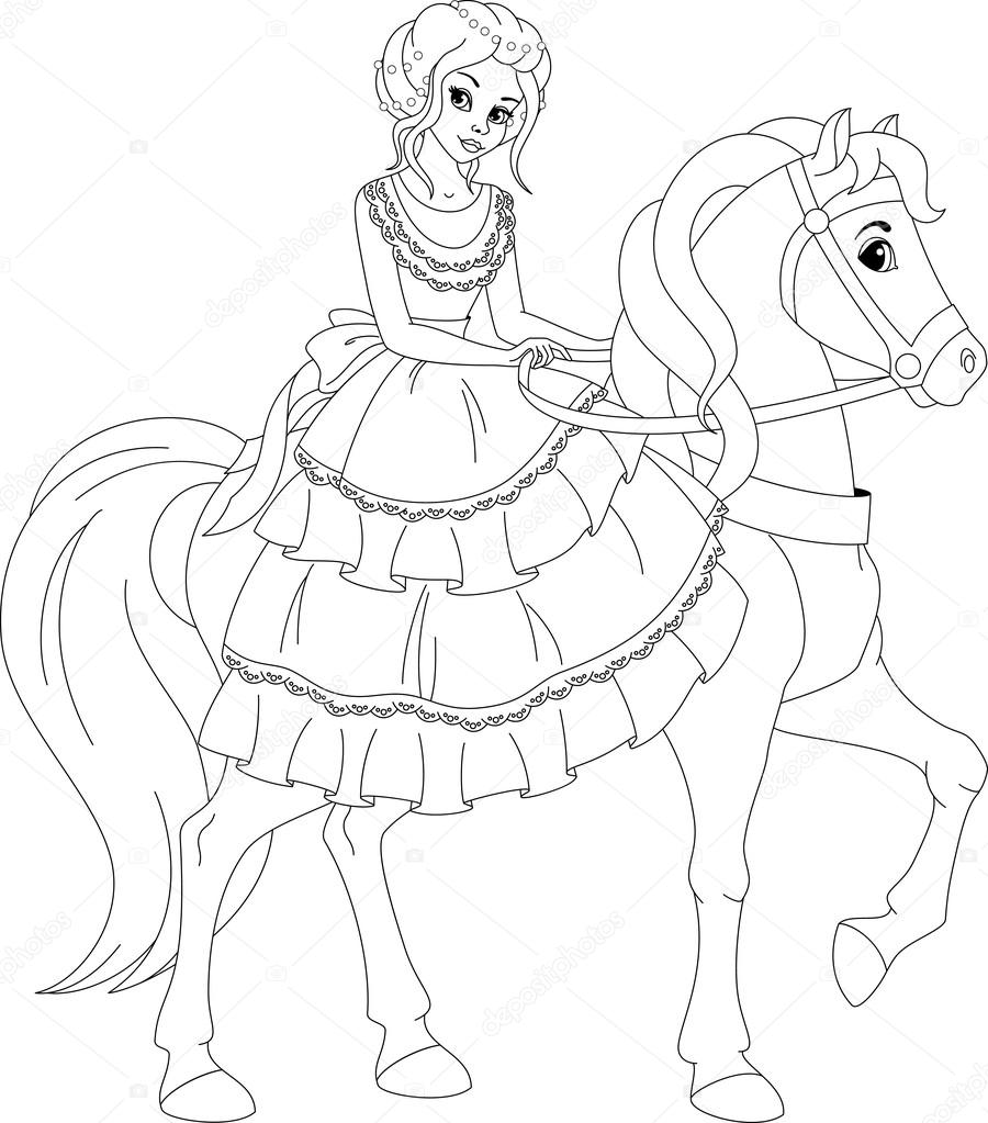 prinses kleurplaat stockvector 169 malyaka 111978552