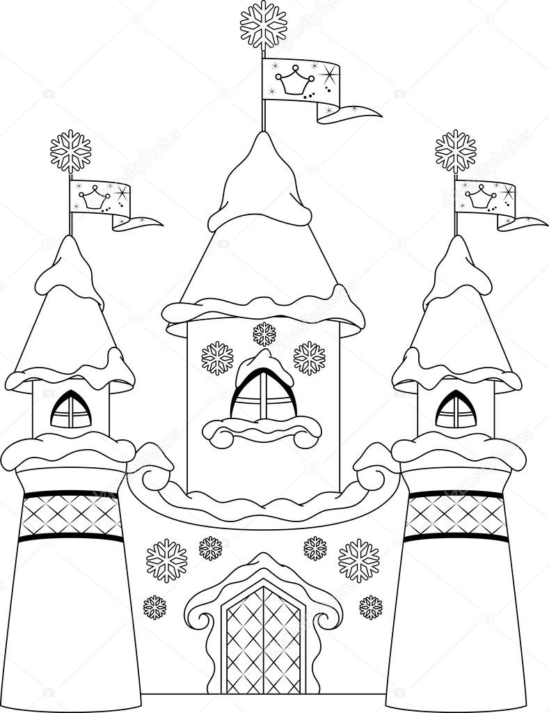 castle coloring page stock vector malyaka 54612951
