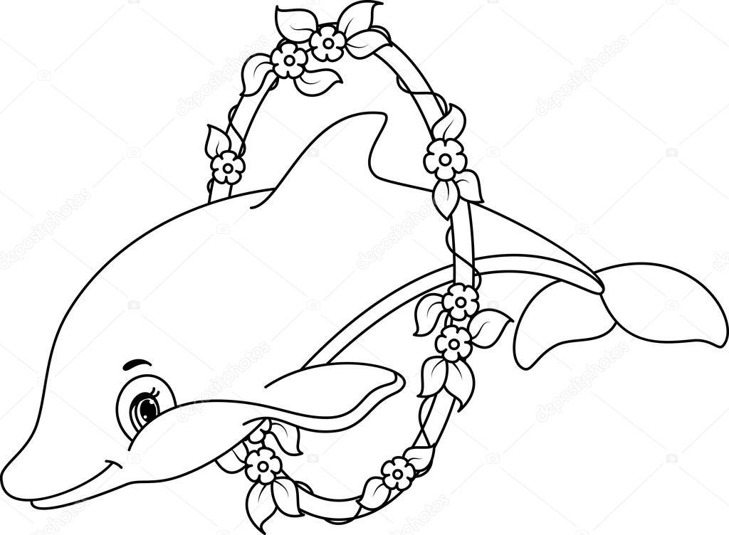 Delfiny Kolorowanki Grafika Wektorowa C Malyaka 63188341