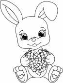 rabbit holds stock vector 169 dazdraperma 4753802