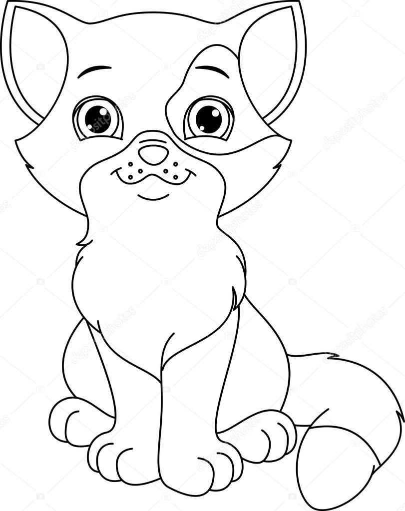 kitten kleurplaat u2014 stockvector malyaka 68233483