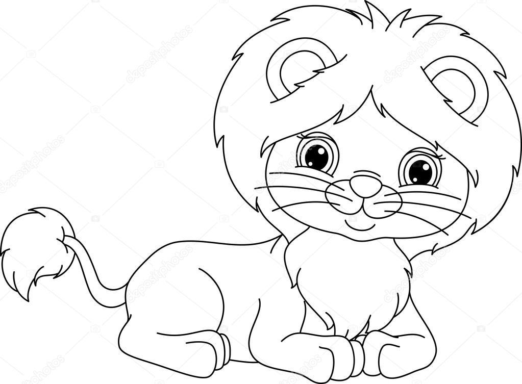 León encuentra la página para colorear — Vector de stock © Malyaka ...