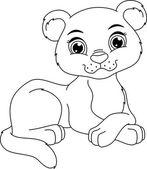 Fotografia Pagina da colorare di Pantera Cub
