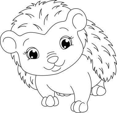 Hedgehog coloring page