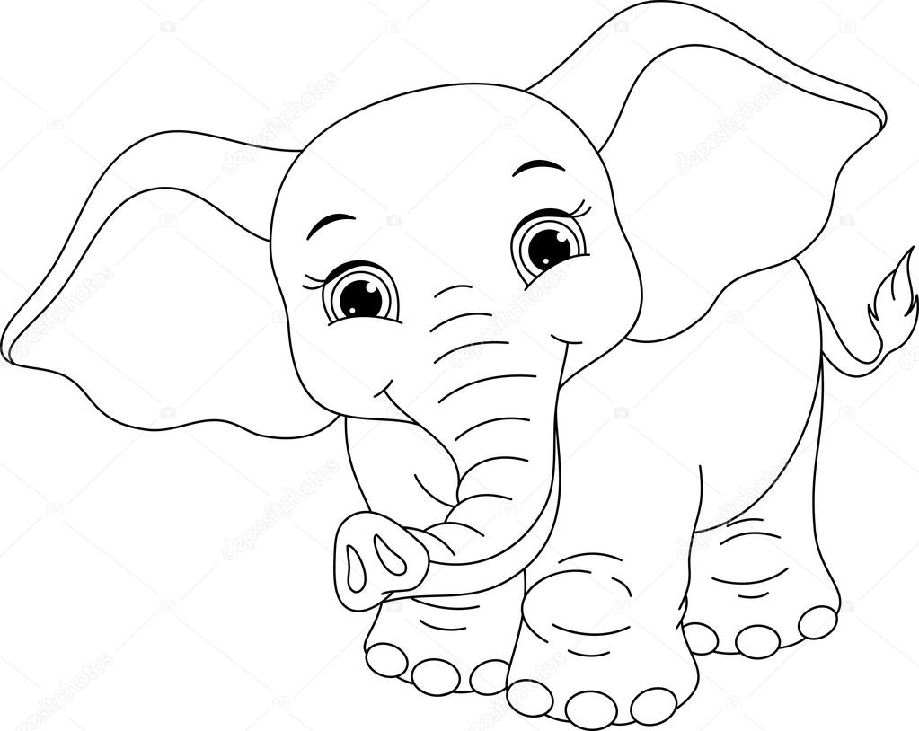 olifant kleurplaat stockvector 169 malyaka 78652466