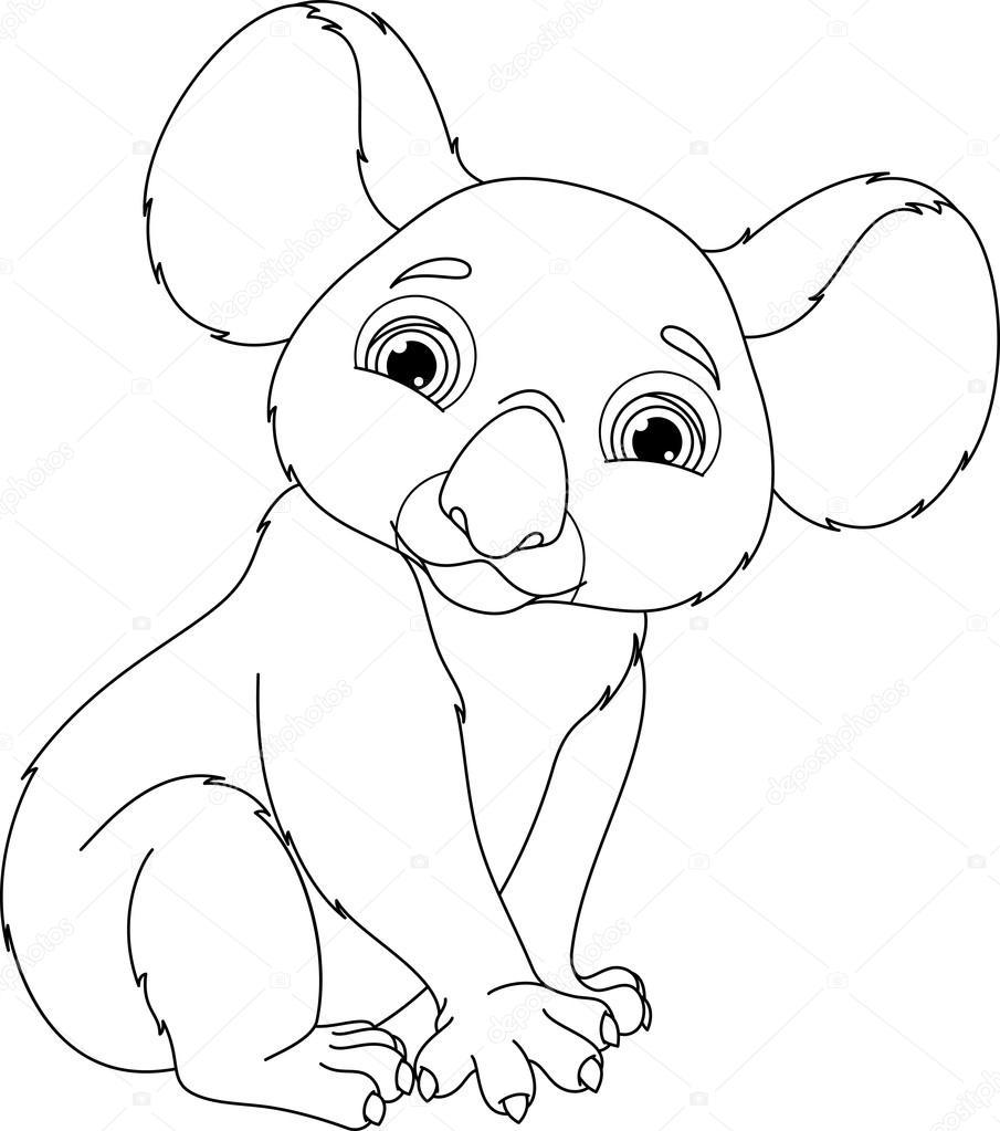 koala kleurplaat stockvector 169 malyaka 78932764