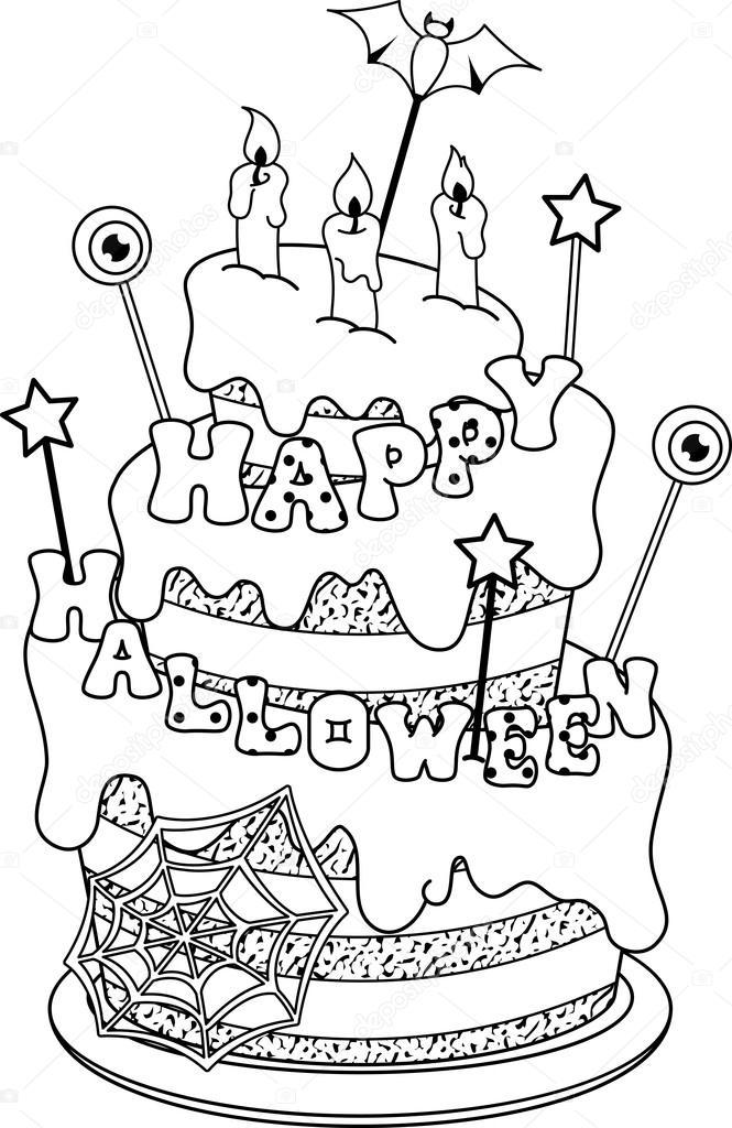 Coloriage Gateau Cake.Coloriage Gateau Image Vectorielle Malyaka C 86317362