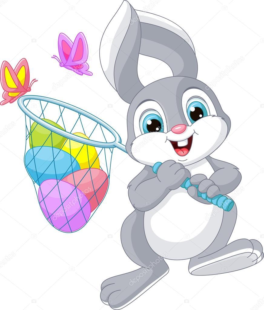 lindo conejo de Pascua — Archivo Imágenes Vectoriales © Malyaka ...