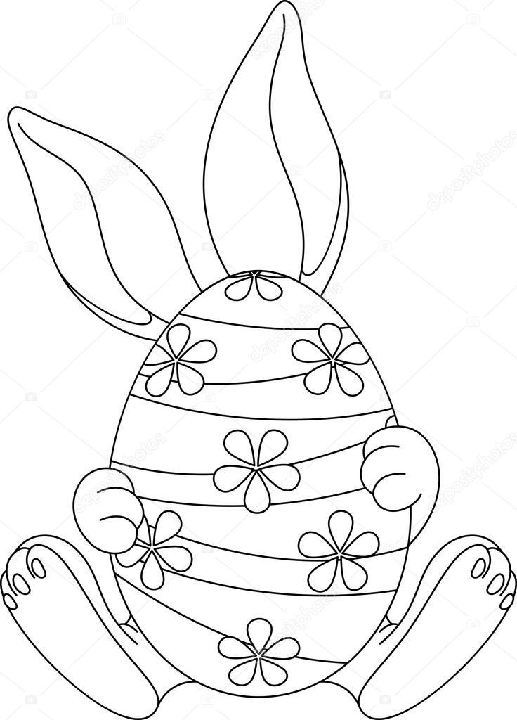 Página para colorear de huevos de Pascua — Archivo Imágenes ...