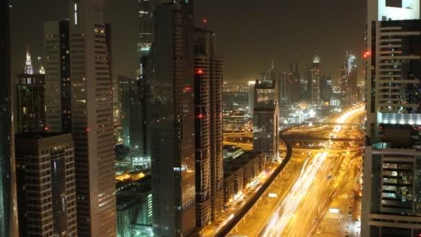 dubajské panorama noční timelapse