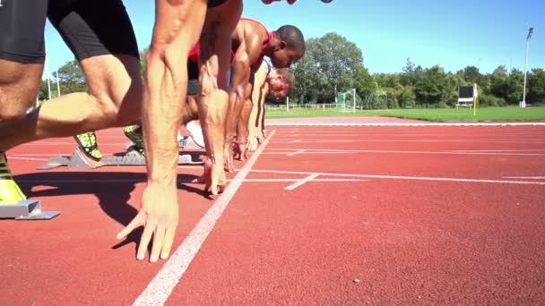 Slomo sprint start boční pohled