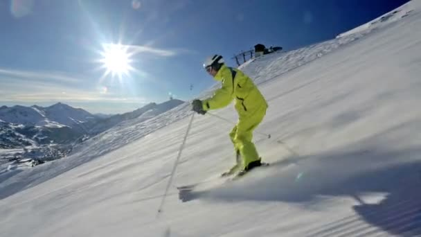 lyžování ve zkratce houpačky