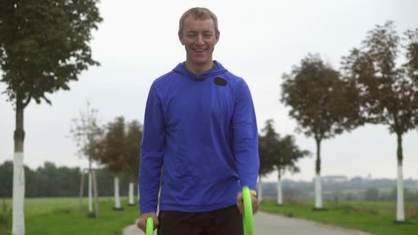 Smovey trénink venku Zpomalený pohyb
