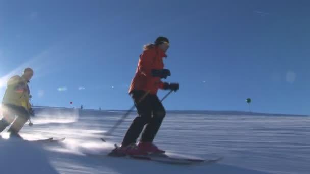 Dva lyžaři, lyžování v horách