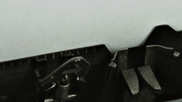 Vintage typewriter writing words