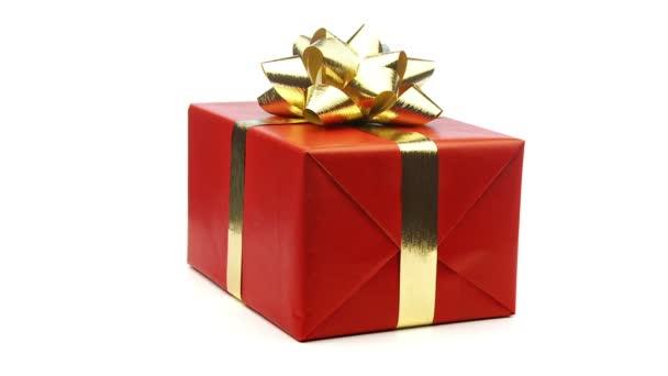 vánoční dárek, opakování na bílém pozadí