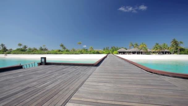 dřevěná mola tropický ostrov