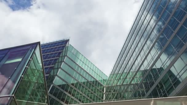 office buildings with many glass windows