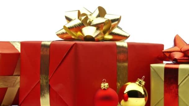 karácsonyi ajándékokat, hurkolás, fehér