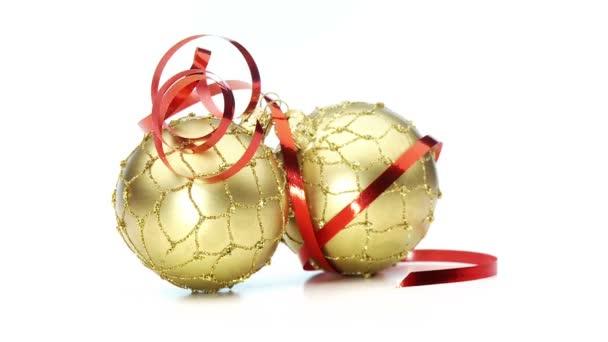 Krásný zlatý vánoční koule opakování