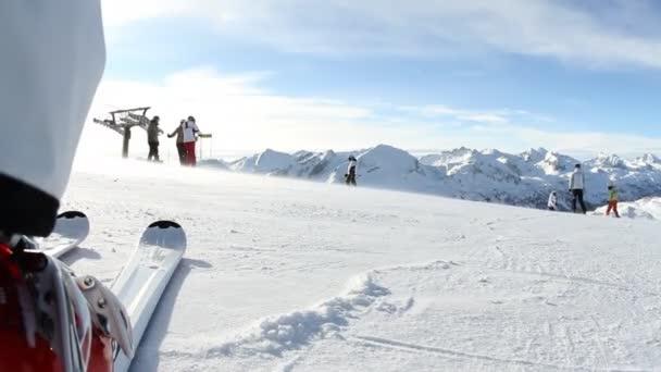 Skiing in austrian alps