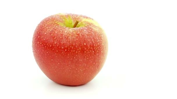 Apple a vízcseppek elszigetelt