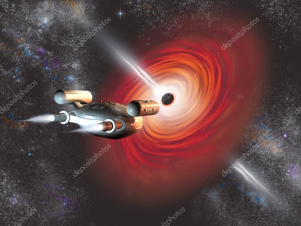 """Resultado de imagen de nave entrando en un Agujero Negro"""""""