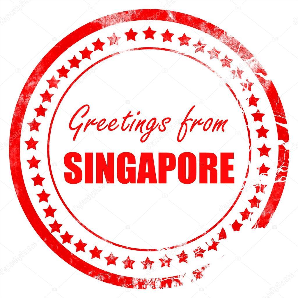 Greetings From Singapore Stock Photo Ellandar 103480822