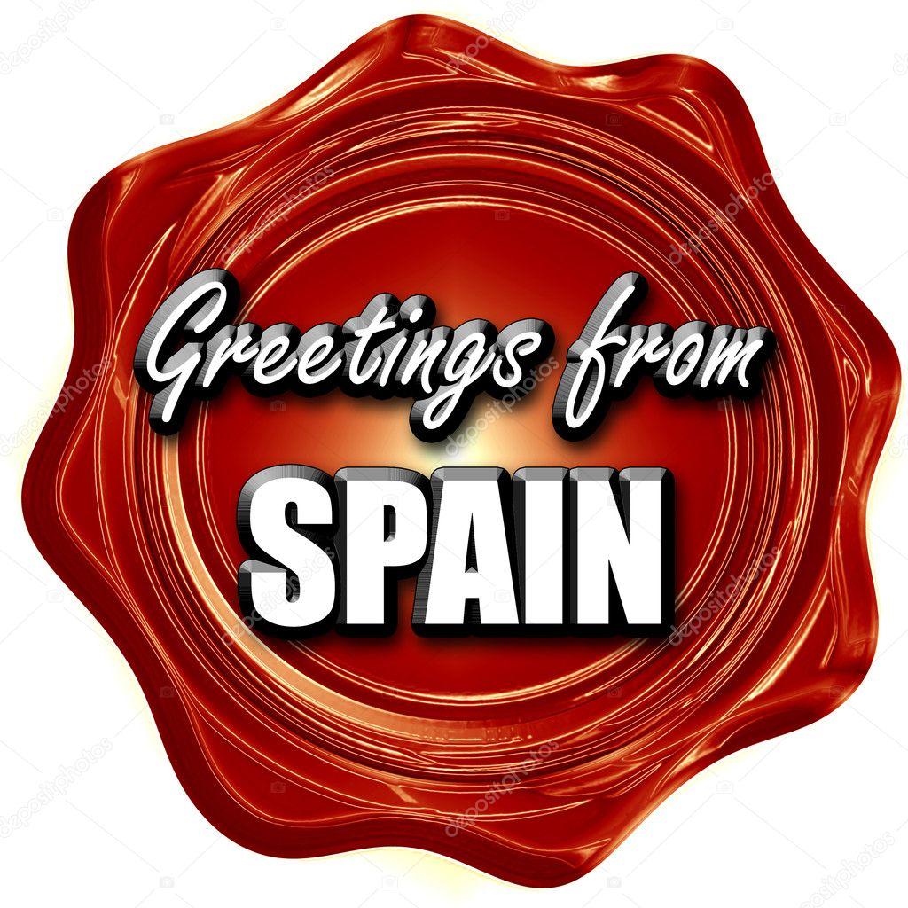 Greetings From Spain Stock Photo Ellandar 103903280