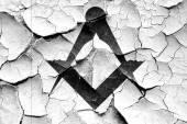 Fotografie Grunge cracked Masonic freemasonry symbol