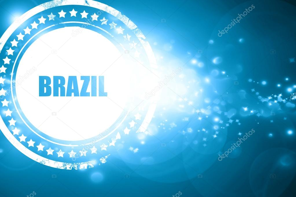 Blue stamp on a glittering background greetings from brazil stock blue stamp on a glittering background greetings from brazil stock photo m4hsunfo