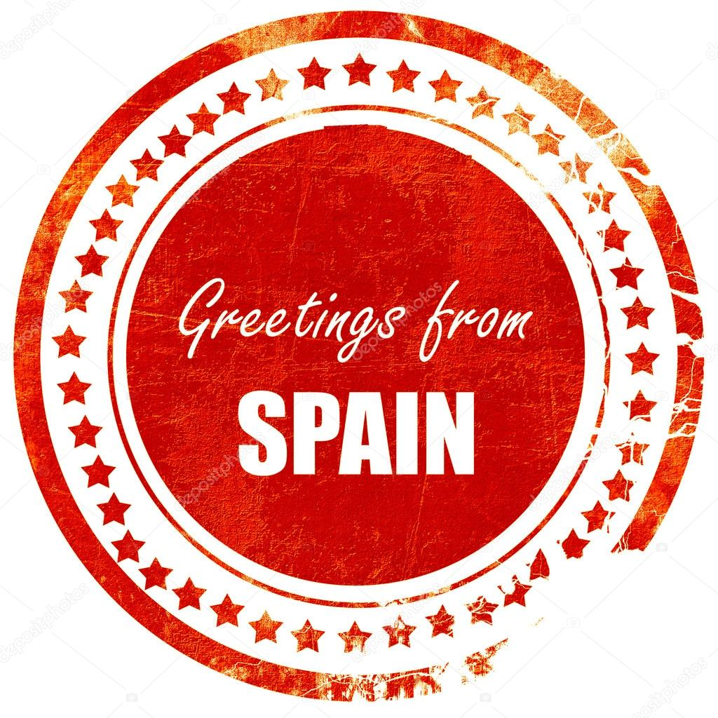 Greetings from spain grunge red rubber stamp on a solid white b greetings from spain grunge red rubber stamp on a solid white b stock photo m4hsunfo