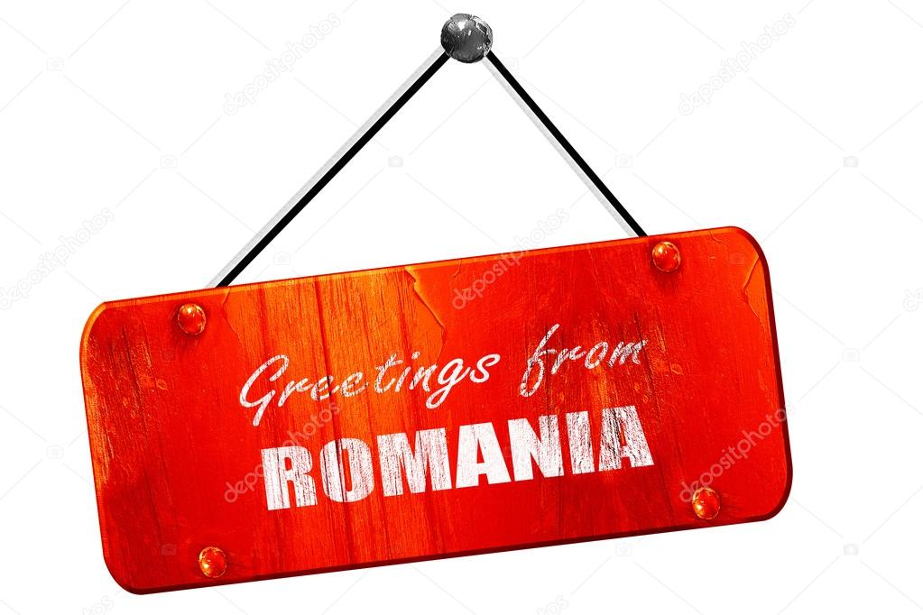Greetings from romania 3d rendering vintage old red sign stock greetings from romania 3d rendering vintage old red sign stock photo m4hsunfo