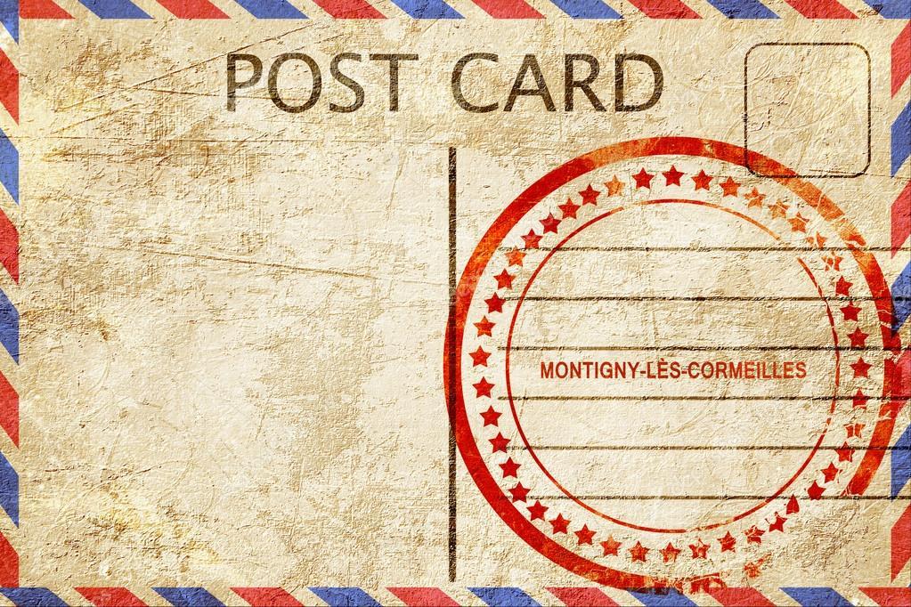 Cart o postal de montigny les cormeilles vintage com um borracha spera st stock photo - Montigny les cormeilles code postal ...