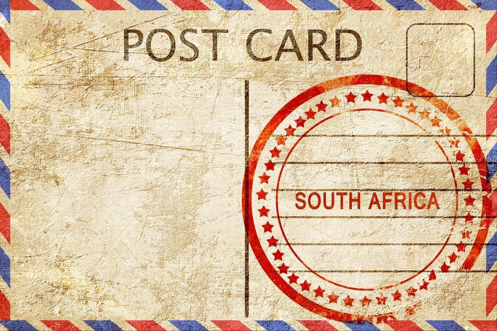 Carte Postale Afrique Du Sud.Afrique Du Sud Vintage Carte Postale Avec Un Tampon De